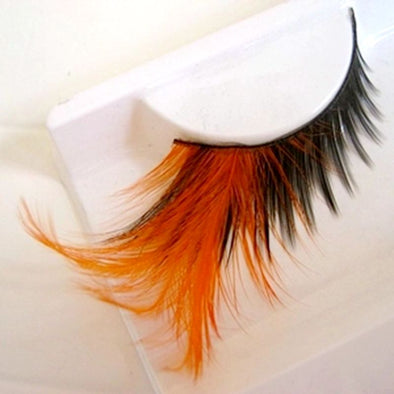 Orange Feather False Eyelashes Pure Handmade Winged Exaggerated Soft Lashes