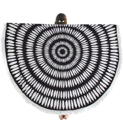 Round Hippie Tassel Tapestry Beach Throw Cover Up  Mandala Towel Yoga Mat - Cosplay Infinity