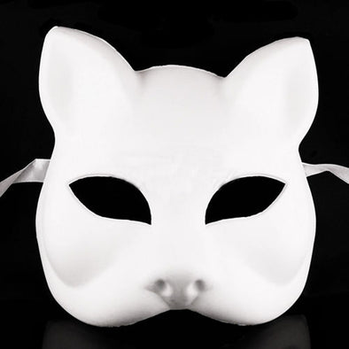 Lot 15 Fox Cat Unpainted Mask Form Women Lady Masquerade - Cosplay Infinity
