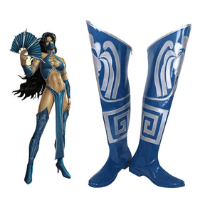 Mortal Kombat 9 Kitana Cosplay Shoes Boots Cosplay - Cosplay Infinity