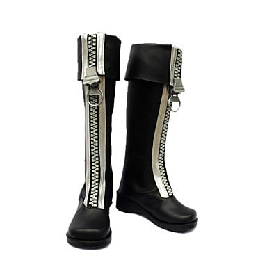 Cosplay Shoes Boots Inspired by D.Gray-Man-Allen White Zipper Brown