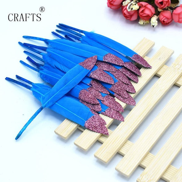 20 beautiful duck feather 10-16CM / 4-6 inch DIY wings cosplay decorative accessories