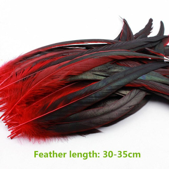 10Pcs/Lot Dyed Rooster Tail Feather Chicken Feather 30-35cm /12-14Inch