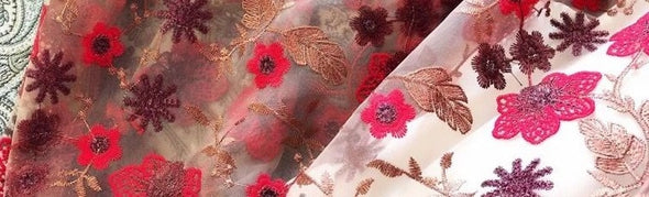 1 yd Luxury High-grade French Net Lace Fabric 3D Flower Tulle Mesh Fabric African Lace