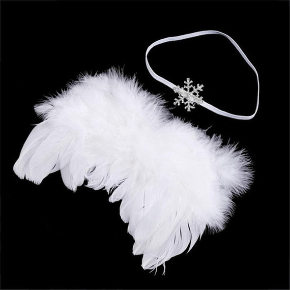 0-6M Newborn Baby Feather Angel Wings Newborn Photography Props