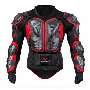 Men Full Body Motorcycle Armor Motocross Back Shoulder Racing Protective Gear Breathable Moto Motorcycle Jacket Cosplay