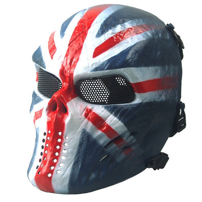 Outdoor Wargame CS Paintball Airsoft Skull Warrior Full Face Mask Cosplay Phantom Military Tactical Hot