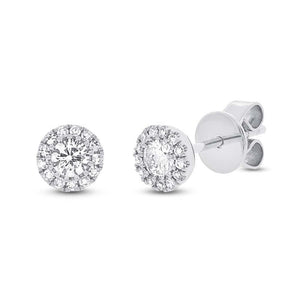 White Gold Diamond Cluster Earring
