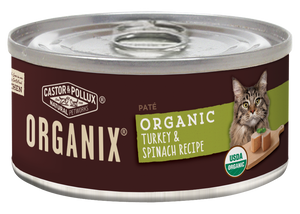Castor and Pollux Organix Turkey and Spinach Formula Adult Canned Cat Food