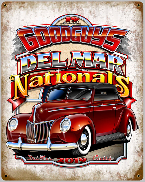 2019 DEL MAR TIN WALL ART-Novelties-Shop Goodguys