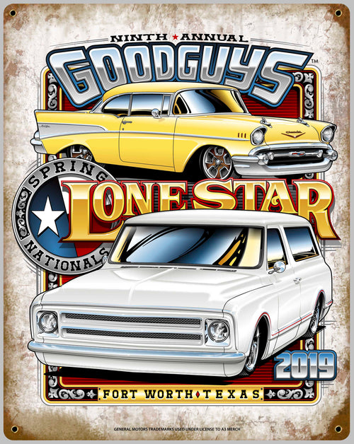 2019 SPRING LONE STAR FORT WORTH TIN WALL ART-Novelties-Shop Goodguys