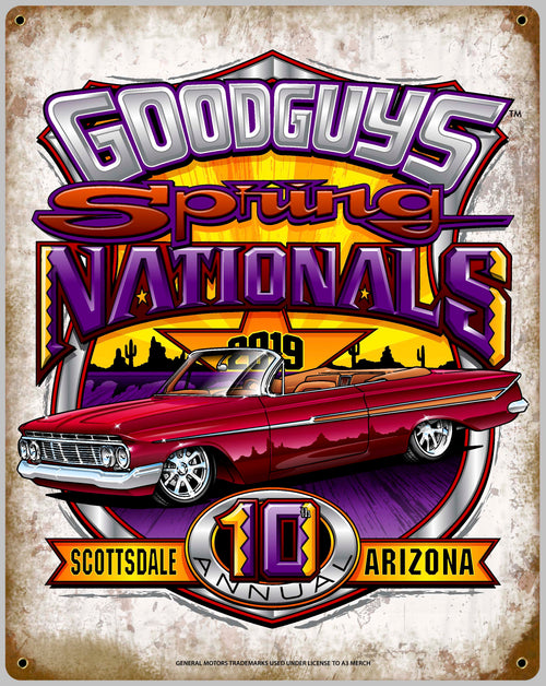 2019 SPRING NATIONALS TIN WALL ART-Novelties-Shop Goodguys
