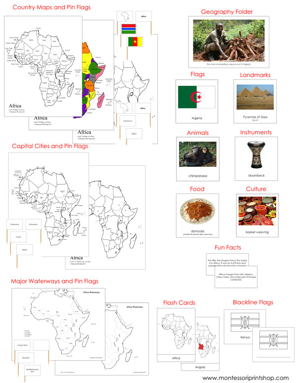 Africa Deluxe Geography Bundle - Montessori Print Shop
