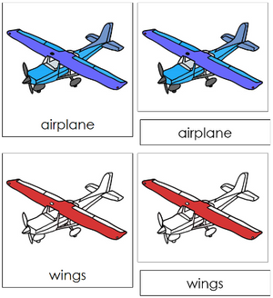 Airplane Nomenclature Cards - Montessori