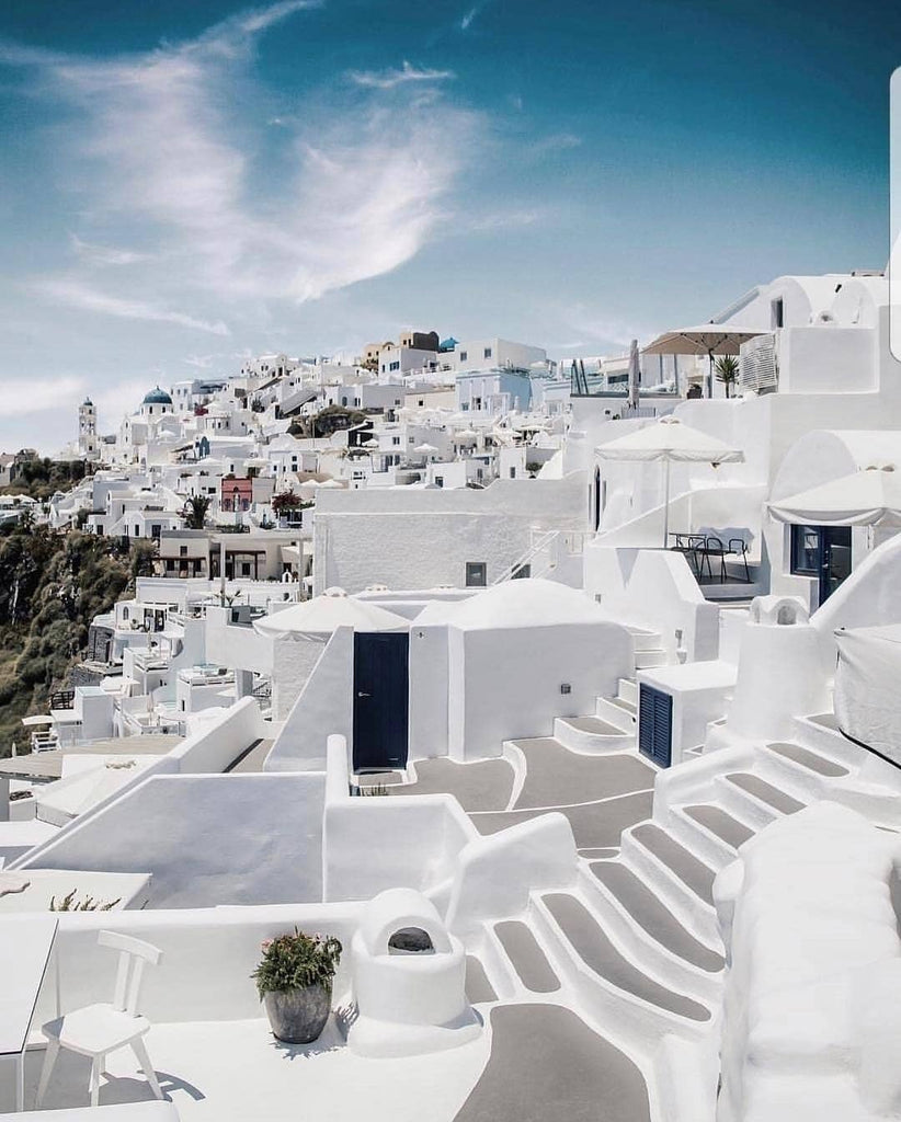 Santorini Greece White Buildings
