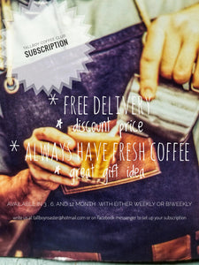 Half & half 6 month alternating subscription of our direct trade columbian and our dark roast Rwandan