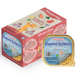 'FREE TREATS': Underdog Cooked Salmon Complete & Balanced Frozen Dog Food 1.2kg