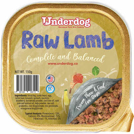 Underdog Raw Lamb Complete & Balanced Frozen Dog Food 150g