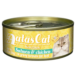 UP TO 22% OFF: Aatas Cat Savory Salmon & Chicken in Gravy Canned Cat Food 80g