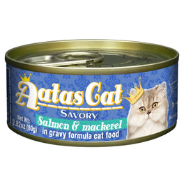 UP TO 22% OFF: Aatas Cat Savory Salmon & Mackerel in Gravy Canned Cat Food 80g