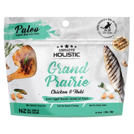 2 FOR $9.90: Absolute Holistic Grand Prairie Air Dried Grain-Free Cat Treats 50g