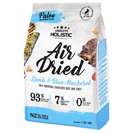 Absolute Holistic Blue Mackerel & Lamb Air Dried Grain-Free Cat Food 500g