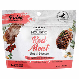 2 FOR $9.90: Absolute Holistic Red Meat Air Dried Grain-Free Cat Treats 50g