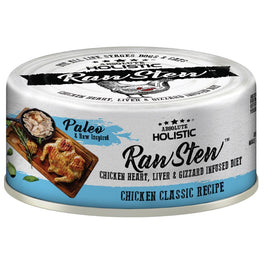 6 FOR $9.90: Absolute Holistic Raw Stew Chicken Classic Grain-Free Canned Cat & Dog Food 80g