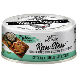 6 FOR $9.90: Absolute Holistic Raw Stew Chicken & Shellfish Grain-Free Canned Cat & Dog Food 80g