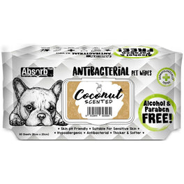 3 FOR $11: Absorb Plus Antibacterial Coconut Scented Pet Wipes