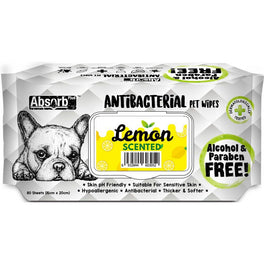 3 FOR $11: Absorb Plus Antibacterial Lemon Scented Pet Wipes