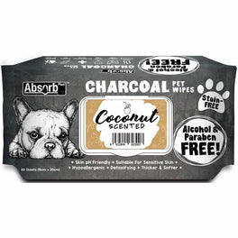 3 FOR $15: Absorb Plus Charcoal Coconut Scented Pet Wipes