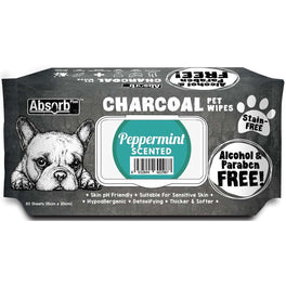 3 FOR $15: Absorb Plus Charcoal Peppermint Scented Pet Wipes