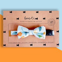 Bowtix Handmade Dog Collar With Removable Bowtie - Kotoritachi (Light Blue)