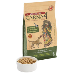 10% OFF MIN. 2 BAGS: Carna4 Quick Baked Air Dried Duck Grain Free Dry Dog Food 6lb