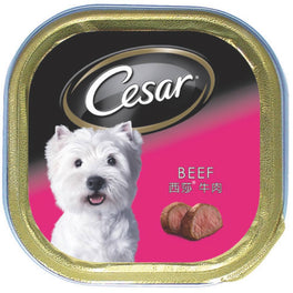 Cesar Beef Pate Tray Dog Food 100g