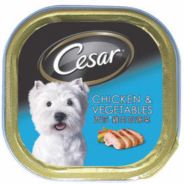26% OFF: Cesar Chicken & Vegetables Tray Pate Dog Food 100g (Exp Nov 19)