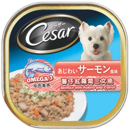 Cesar Salmon With Potato & Carrot Pate Tray Dog Food 100g