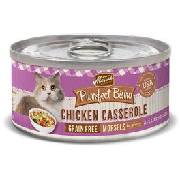30% OFF: Merrick Purrfect Bistro Grain Free Chicken Casserole Morsels in Gravy Canned Cat Food 156g (Exp Sep 19)