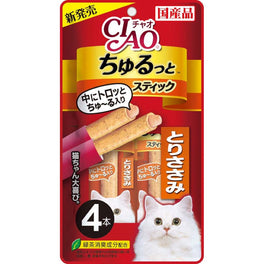 3 FOR $12: Ciao Churutto Tuna Torisasami Liquid Cat Treats 112g