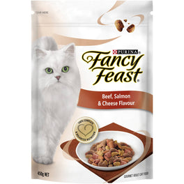 FREE TREATS: Fancy Feast Beef, Salmon & Cheese Flavour Adult Dry Cat Food 1.4kg