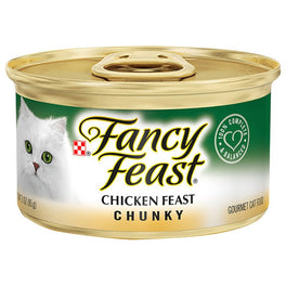 FREE TREATS W/ EVERY 24 CANS: Fancy Feast Chunky Chicken Feast Canned Cat Food 85g