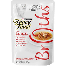 10% OFF: Fancy Feast Classic Broths Tuna, Anchovies & Whitefish Pouch Cat Food 40g