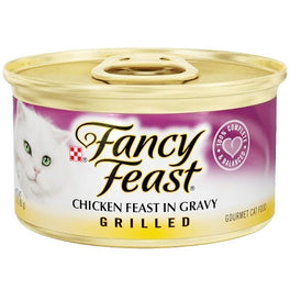 FREE TREATS W/ EVERY 24 CANS: Fancy Feast Grilled Chicken Feast In Gravy Canned Cat Food 85g