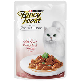 10% OFF: Fancy Feast Inspirations Beef, Courgette & Tomato Pouch Cat Food 70g
