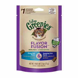 20% OFF: Greenies Flavor Fusion Ocean Fish & Tuna Cat Dental Treats 2.5oz