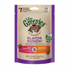 20% OFF: Greenies Flavor Fusion Salmon & Chicken Cat Dental Treats 2.5oz
