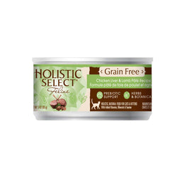 BUY 3 GET 1 FREE: Holistic Select Grain Free Chicken Liver & Lamb Pate Canned Cat Food 156g