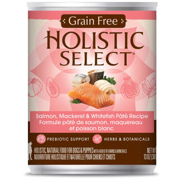 Holistic Select Grain Free Salmon, Mackerel & Whitefish Pate Canned Dog Food 368g