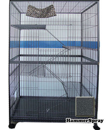 Powder Coated Cast Iron 5 Level Cat Cage Hammerspray